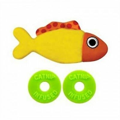 Petstages Catnip Refillable Pocket Fish Cat Toy