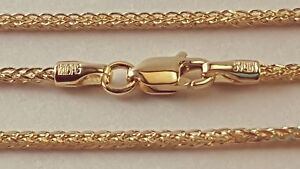 14-k-Solid-Yellow-Gold-1-25-mm-Square-Wheat-Chain-Necklace-16-034-18-034-20-034-22-034-24-034