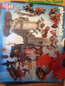 Playmobil-4835-Citadelle-du-Dragon-Rouge-Ocasion-avec-boite-toutes-les-pieces