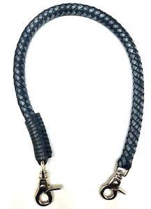 Biker-chain-braided-leather-Gray-Black-Heavy-Duty-Trucker-wallets-made-in-USA