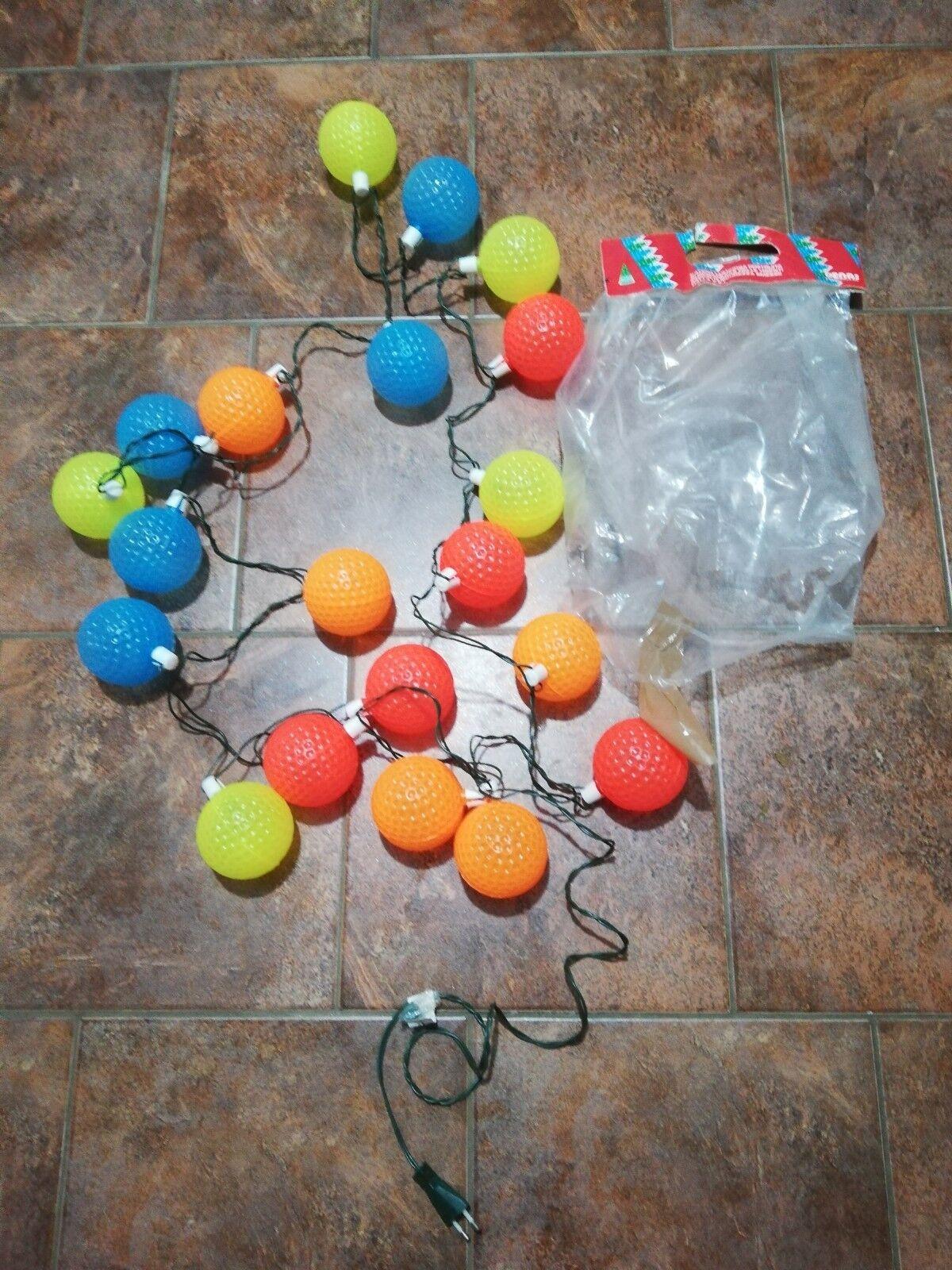 Catena Luci Di Natale vintage Con palle palle palle Luci Intermittenti Denas come nuovo fd4725