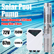 4 Dc Deep Bore Well Solar Water Pump 72v 1hp Submersible Mppt Controller Kit Us