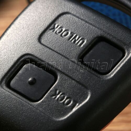 2 Button Auto Remote Key Fob Repair Parts Kit Switch Rubber Pad For Toyota Black