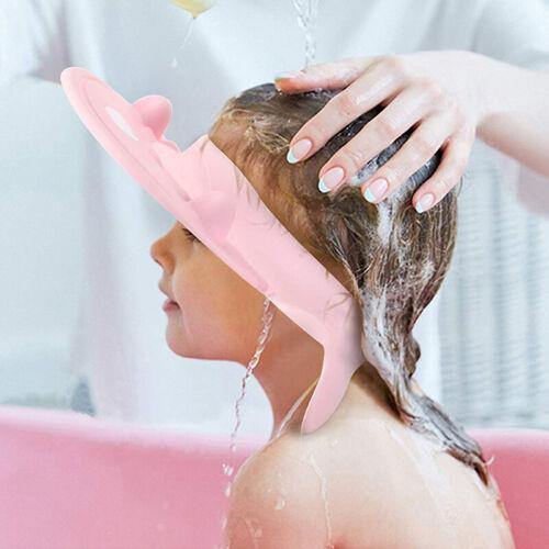 Adjustable Baby kids Shampoo Bath Shower Hat Cap Wash Hair Waterproof Shield UK