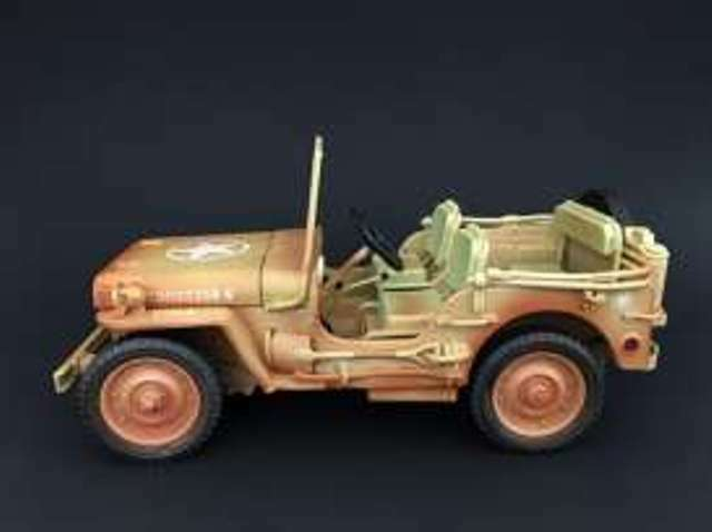 TRIPLE 9 various JEEP WILLYS Desert Sand   US Military Police models 1 18th