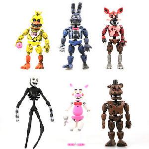 6Stk Five Nights At Freddy's FNAF Action Figuren Spielzeug Bonnie Chica Foxy Bär