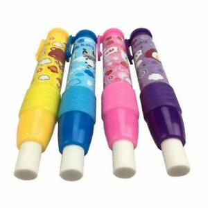 4 Thick Small Hand Pen Shape Style Retractable Erasers