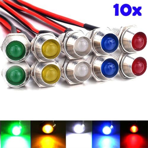 10 pc DEL indicateur de signal lampe étanche VOYANT Auto Camion Bateau 12 V K838
