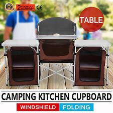 Campingküche Kocherschrank Küchenschrank Tisch Praktischer mit Windschutz