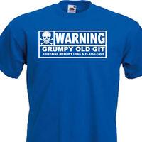WARNING GRUMPY OLD GIT FUNNY MENS T-SHIRT  8 Colours 6 SIZE   S,M,L,XL,XXL,XXXL,