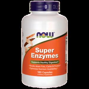 Now Foods Super Enzimi 180 Capsule per una sana digestione