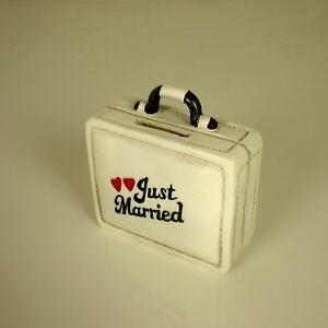 Spardose Hochzeit Just Married Reisekoffer Flitterwochen Geschenk