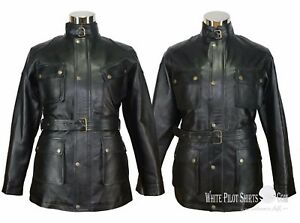 Black-Leather-Jacket-Benjamin-style-Mens-Motorcycle-Pitt-Military-Field-Panther