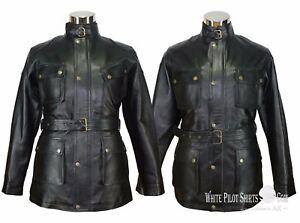 Panther-Leather-Jacket-Black-Mens-Motorcycle-Benjamin-Brad-Pitt-Field-Military