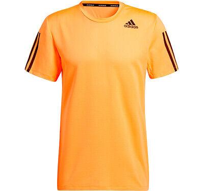 Adidas Aero 3S Tee Primeblue T-Shirts Orange Racket Outdoor Slim Fit NWT GQ2165 | eBay