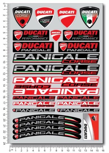 Panigale 899 1199 motorcycle pro quality stickers decals for Ducati 959 1299 red