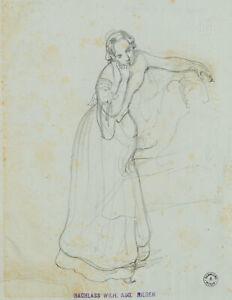 W. A. RIEDER (1796-1880), Studie einer Genreszene, Bleistift, Nachlass