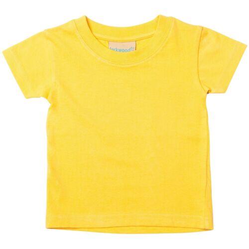 Toddler Baby Kids Boy Girl Short Sleeve Top T-Shirt Tee Shirt 15 Colours 0-4 Yrs