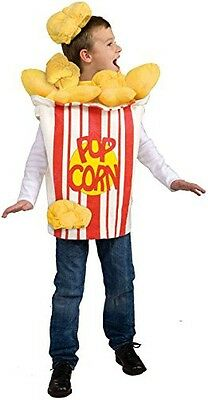 Child Popcorn Costume Kernel Movie Cup Girls Boys Pop Corn Kids Size 6-12 NEW