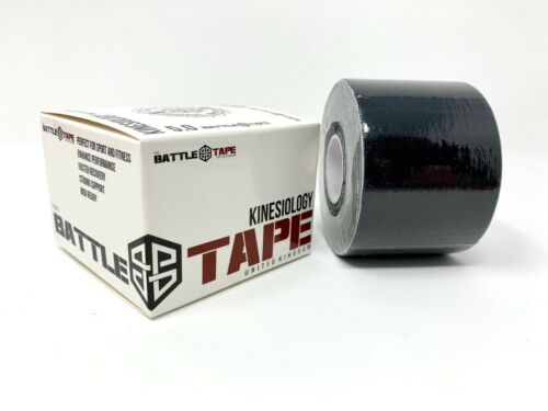 Battletape Kinesiologia Nastro Adesivo Nero 5cm x 5m SPORT body al ginocchio Physio palestra crossfit