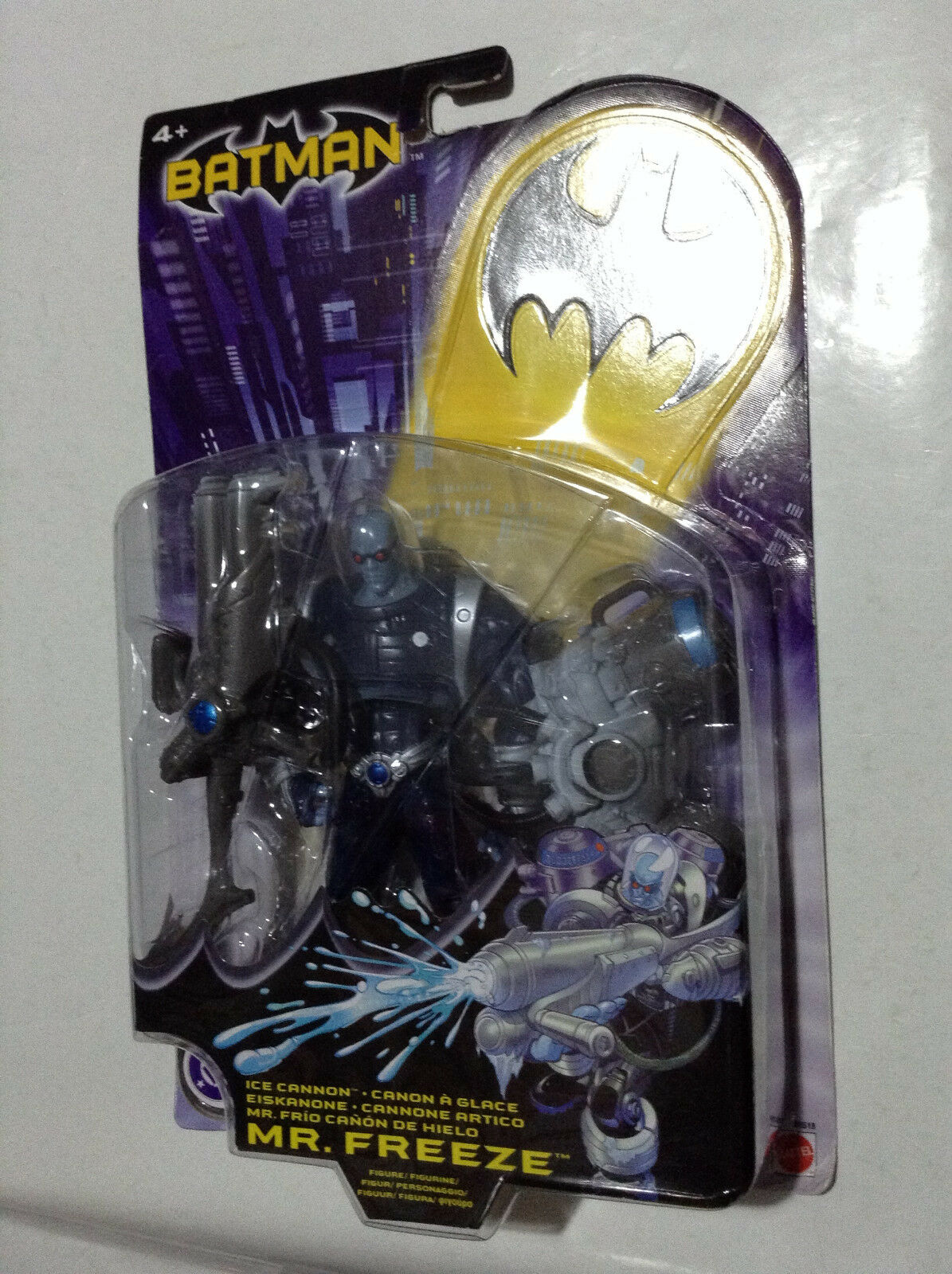 BATMAN ICE CANNON MR.FREEZE CLASSIC FIGURE 2003 DC MATTEL EUROPEAN EDITION NEW52