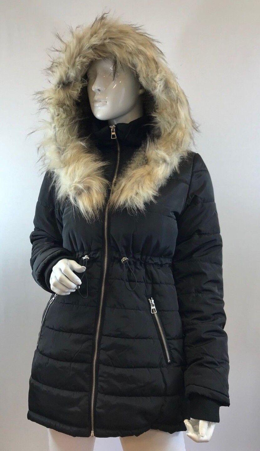 Ladies new ex New Look Longline Parka Coat Size 6 8 10 12 14 16 18