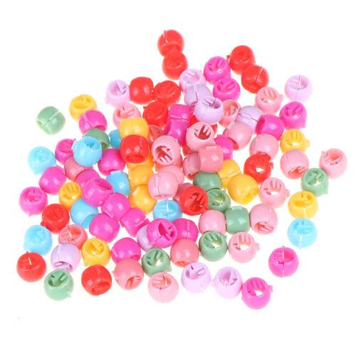 100 Stück Mini-Haarspangen Mädchen süße Bonbonfarbe Perlen Kopfbedeckunge WCY