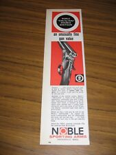 1965 Print Ad Noble Side by Side Double Shotguns Haydenville,MA