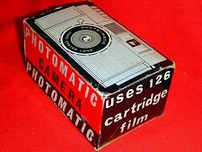 PHOTOMATIC-CHEAP-126 CARTRIDGE FILM CAMERA-WORKING WITH BOX