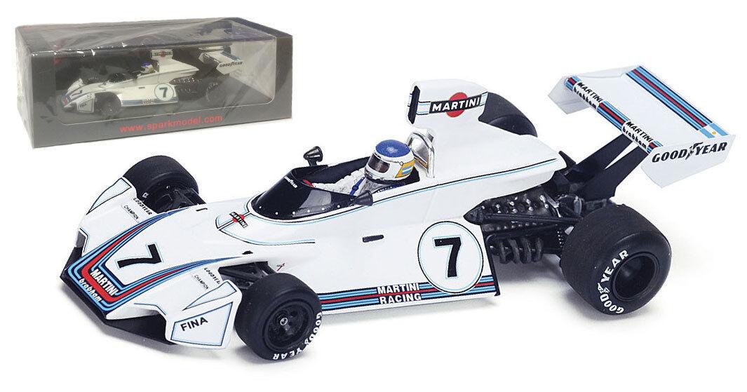 tienda Spark Spark Spark S4787 Brabham BT44B  7 Ganador GP 1975-Cochelos Reutemann alemán escala 1 43  precio al por mayor
