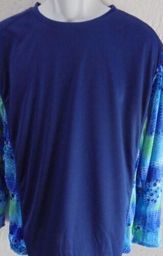 NWT Men/'s Spicy Tuna Long Sleeve Microfiber Fishing UV Protection Shirt Navy XL