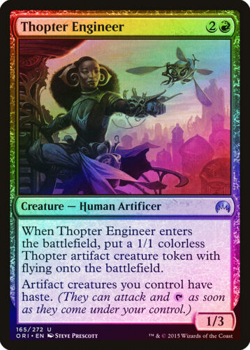 Thopter Engineer FOIL Magic Origins NM Red Uncommon MAGIC MTG CARD ABUGames