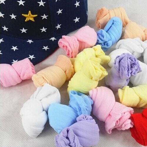 5 Paare geboren Baby Jungen Mädchen Baby Kinder weiche SocMischfarben YR