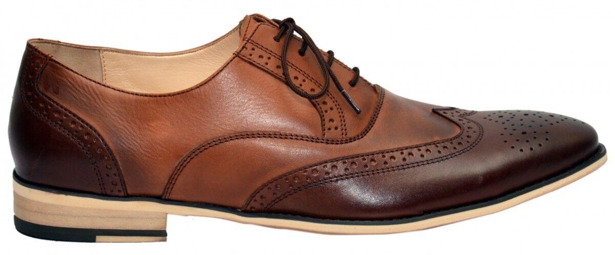 Business Schuhe Oxford Schuhe Business Brogues Lederschuhe Schuhe braun e131fb