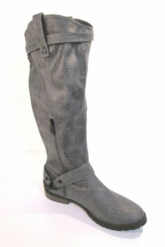 Ladies F5601 grey pull-on knee length boots by spot on £29.99
