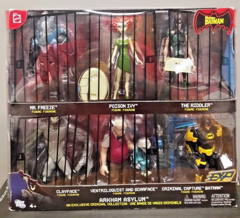 DC Batman Arkham Asylum criminal Colección 6 Figura Acción Figura Set MATTEL