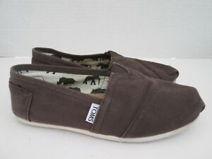 276186646e Toms Classic Slip On Flats Canvas Shoes Women's Size 6 US Chocolate ...