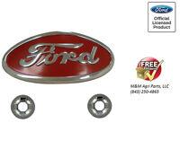 8n Ford Tractor Hood Emblem & Clips (chrome) 8n16600b 8n16600a - 1947-52