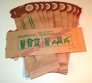 20 Staubbeutel Tüten geeignet Vorwerk Kobold 120