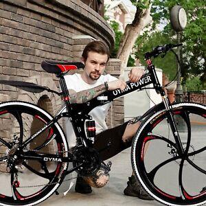 Mountain Bike Full Suspension Shimano 21 Speed Mens Bikes MTB 26 Inch Bicycle