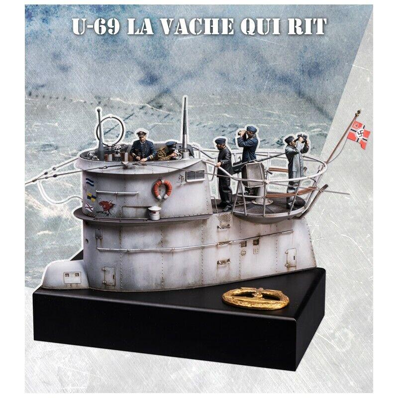 Scala 75 davantie di guerra U-Boat U-69 set WW2 35th Kit residuo non verniciato