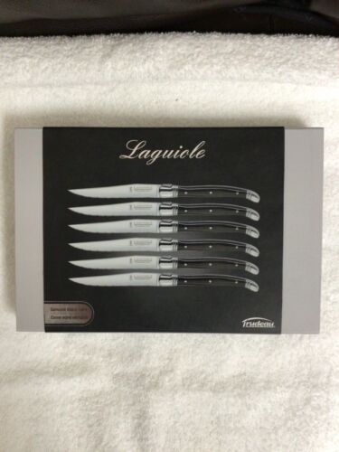 Laguiole Trudeau Set of 6 Stainless Steel Steak Knives Brand New