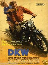 DKW Motorrad XL Farbreklame von 1952 Zustand schlecht Optik super Werbung ad