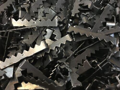 "50 x 2/"" Black Sawtooth Picture Frame Hangers No Nail//Nailless//Nailess//Nail-less"