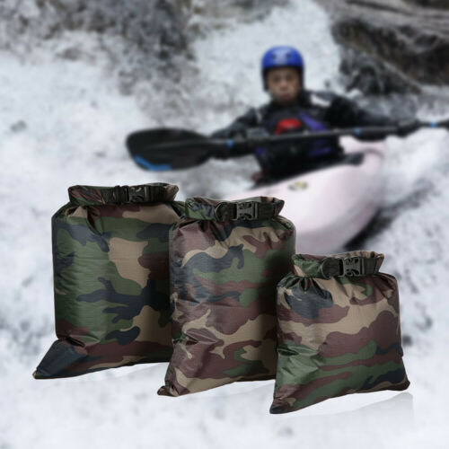 Lixada Pack of 3 Waterproof Bag 3L+5L+8L Outdoor Ultralight Dry Sacks for O8S7
