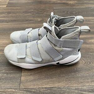 Nike-Zoom-Lebron-James-Soldier-XI-11-Men-039-s-Shoes-Sz-12-Gray-943155-002
