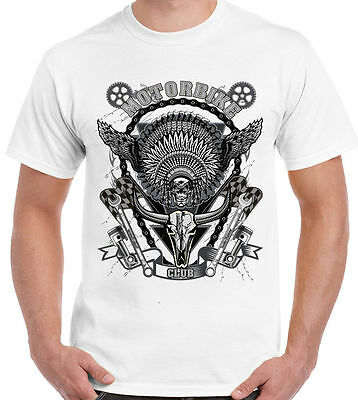 Due di colore pattern Teschio-Uomo Felpa Con Cappuccio-Moto Biker Indian Motorcycle