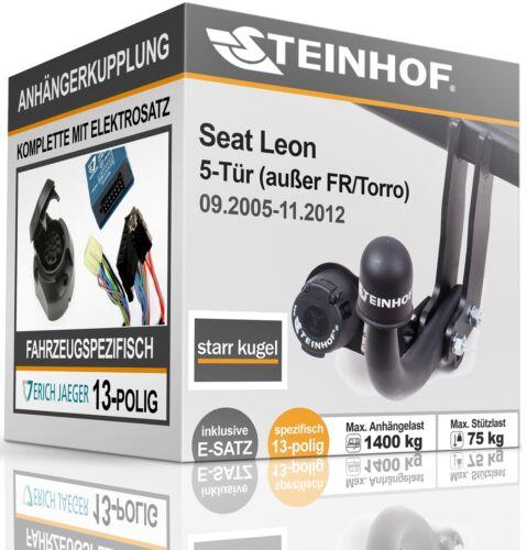 AHK fest Für Seat LEON 5-Tür ab 09.2005-11.2012+E-SATZ 13p FAHRZEUGSPEZIFISCH