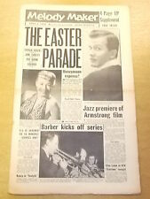 MELODY MAKER 1958 APRIL 5 CHARLIE GRACIE PAT BOONE LIBERACE JAZZ BIG BAND SWING
