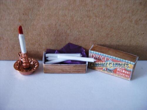 Palillo de la vela y velas Casa De Muñecas Miniaturas